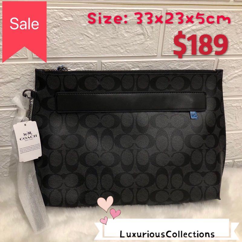 0d80c0a113 💥CLEARANCE SALE Coach mens clutch, Men's Fashion, Accessories ...