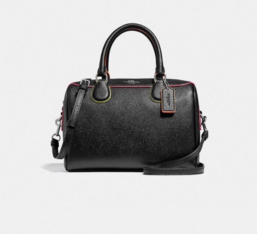 d1e8fd579f Coach Mini Bennett Black and Multi Sling Bag