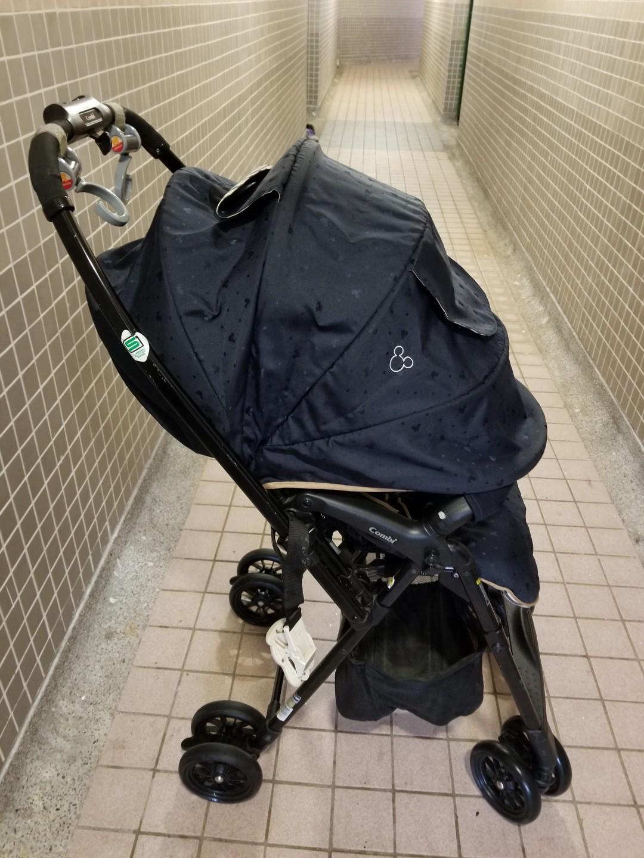 Combi BB車 Mechacal Handy Auto 4Cas 530 baby car 嬰兒手推車 深藍色 米奇款特別版