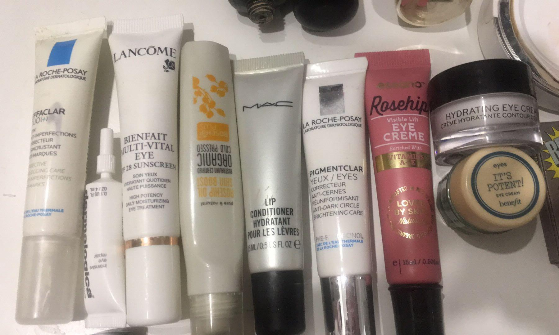 Dermalogica Mac Bobbi brown benefit lancome la Roche posay rosehip eye cream