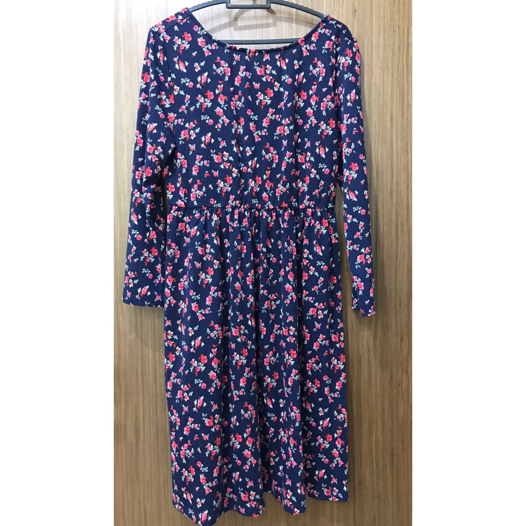 7930fa4d6bd Floral Midi Dress (maternity  plus size)