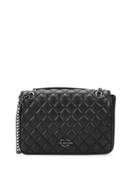 3baaa30d4e29 FREE DELIVERY! Love Moschino Quilted Faux Leather Shoulder Bag ...