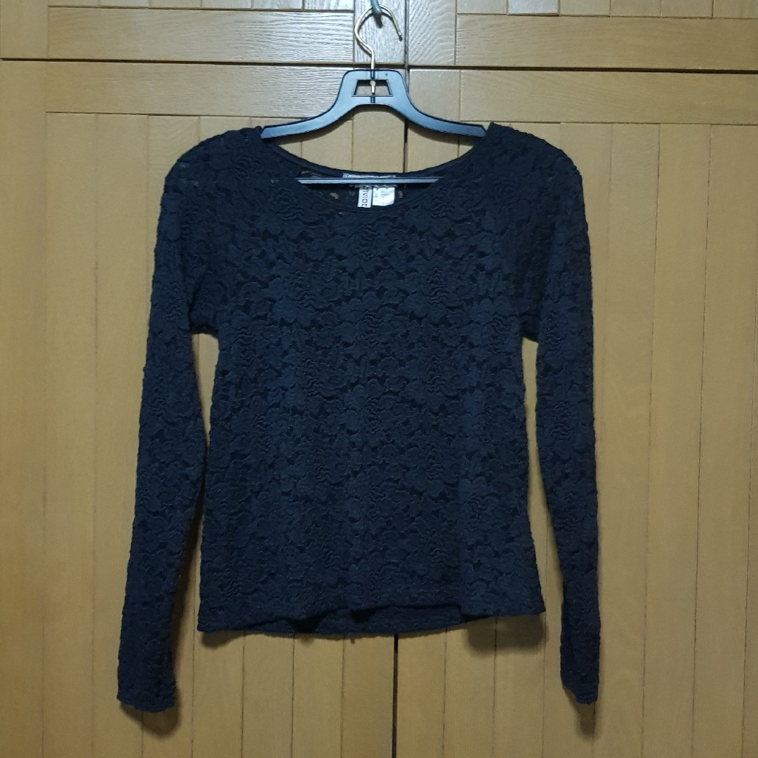 d9e45c971af05f FREE NM] H&M Black Lace Top, Women's Fashion, Clothes, Tops on Carousell