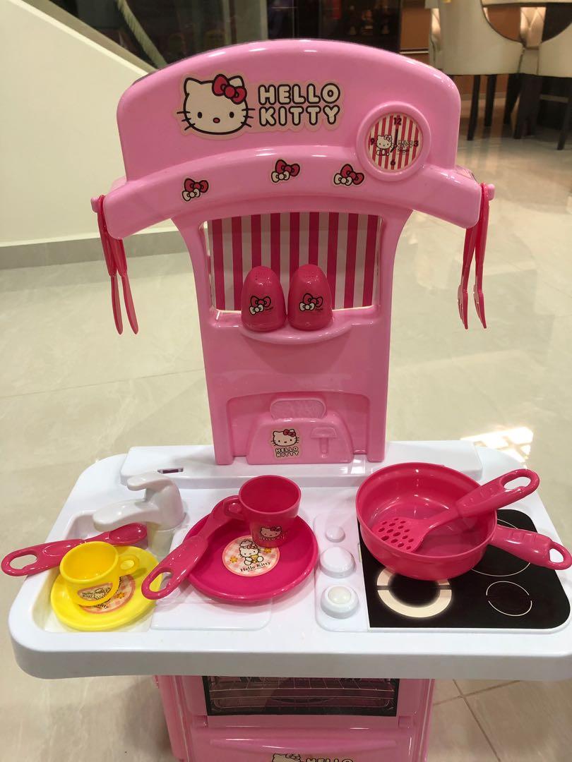 Hello Kitty Kitchen Set Sanrio Babies Kids Toys Walkers On Carousell