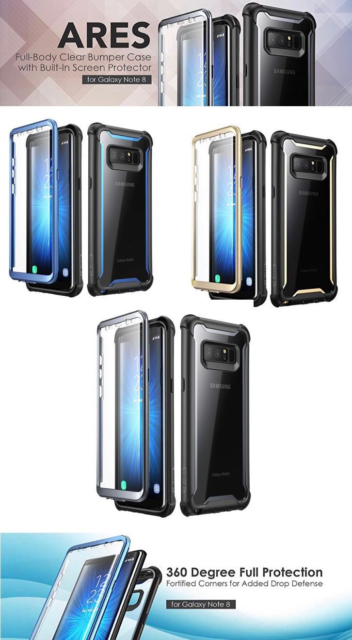 huge discount df66e 505c3 i-Blason Ares Case with Built-in SP for Note 8 (FlashDeal)