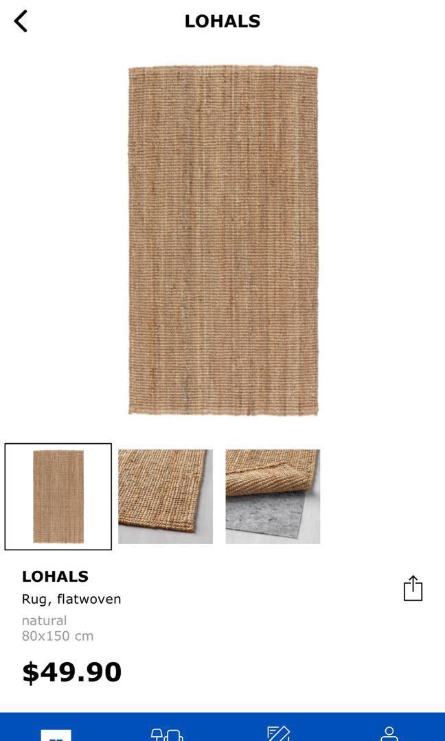 Ikea Lohals Jute Rug Furniture Home