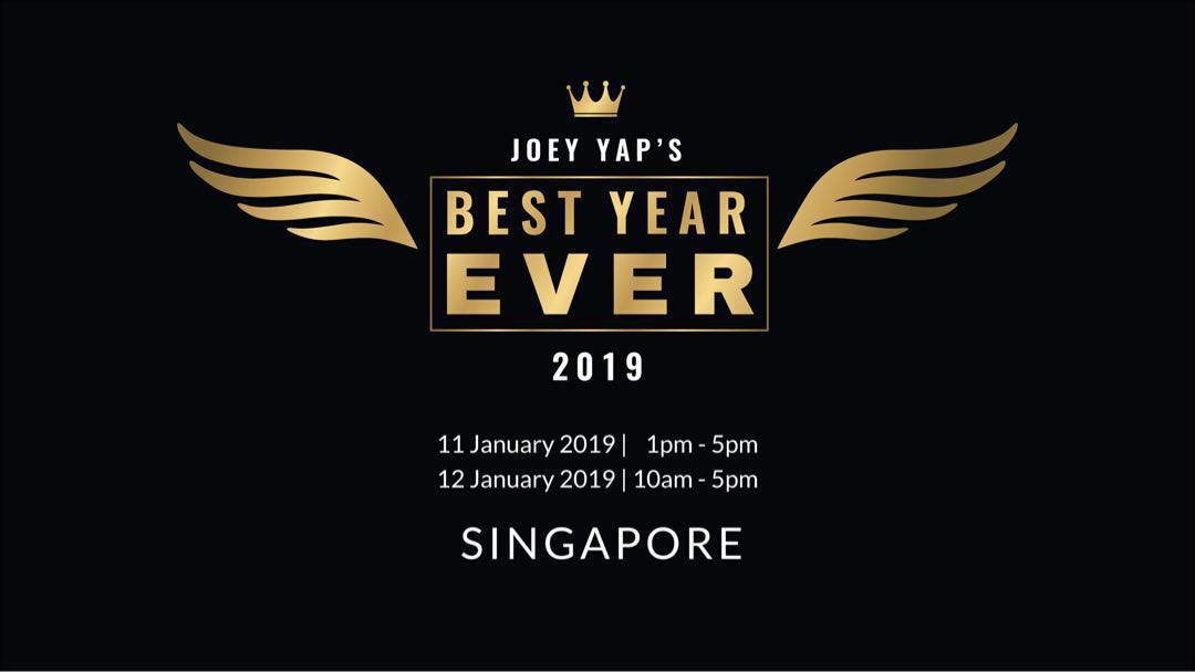Joey Yap's Best Year Ever BYE Live SG + free Feng Shui Astrology Live SG