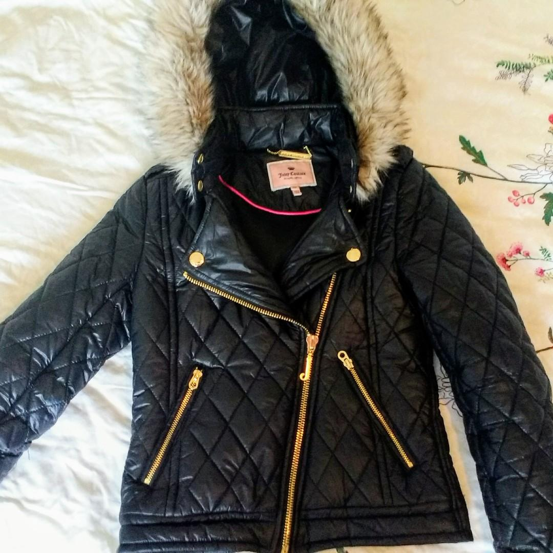 Juicy Couture Moto quilted jacket XS