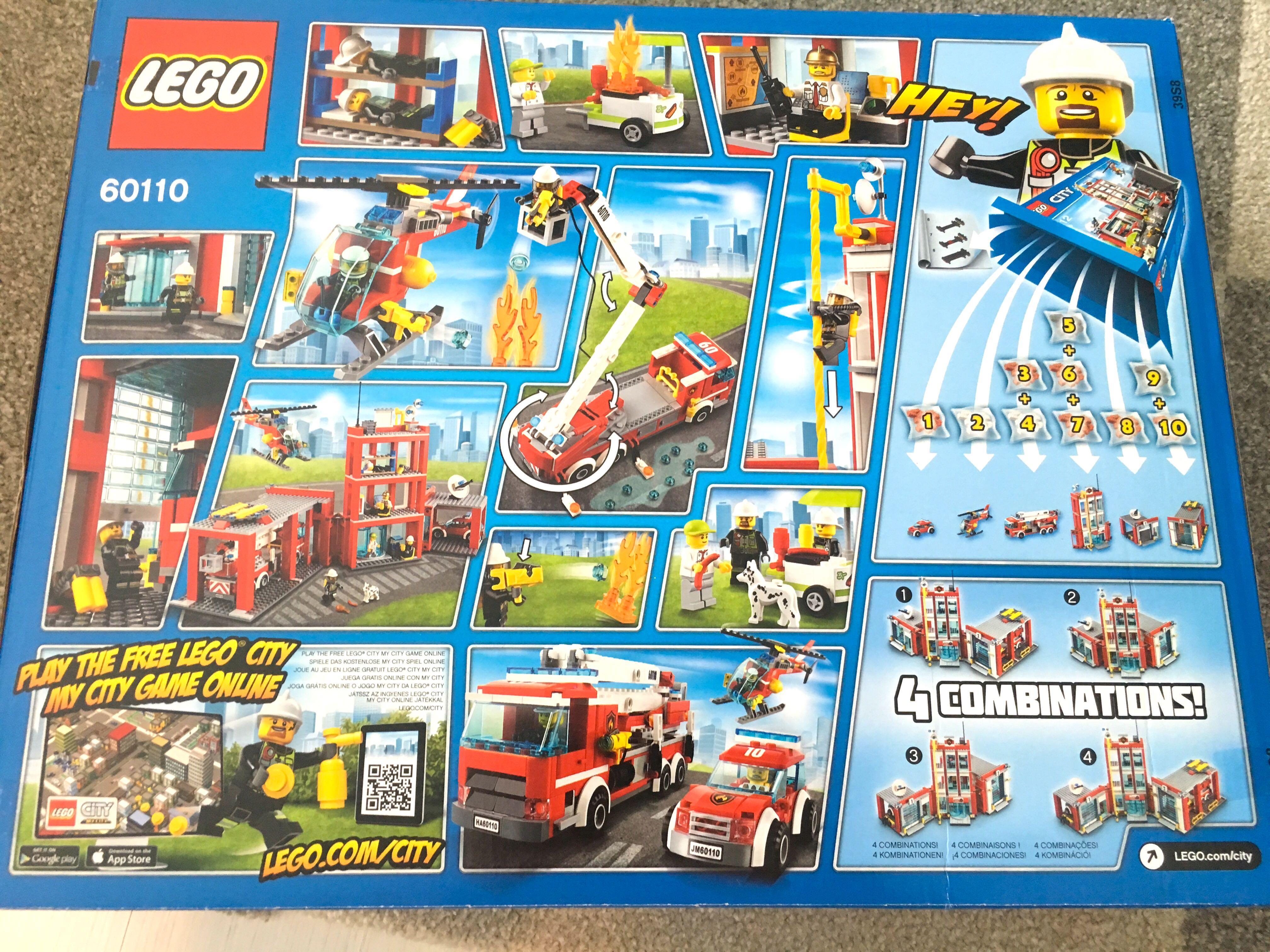 Lego City Set 60110 Fire Station (2019), Toys & Games
