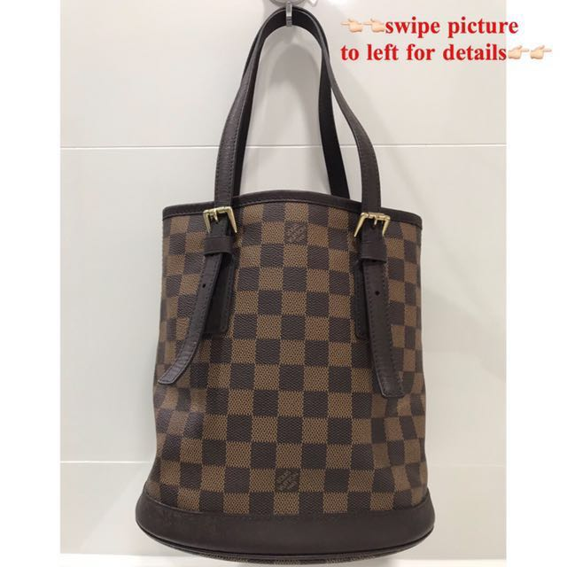073629583a509 LV Louis Vuitton damier bucket