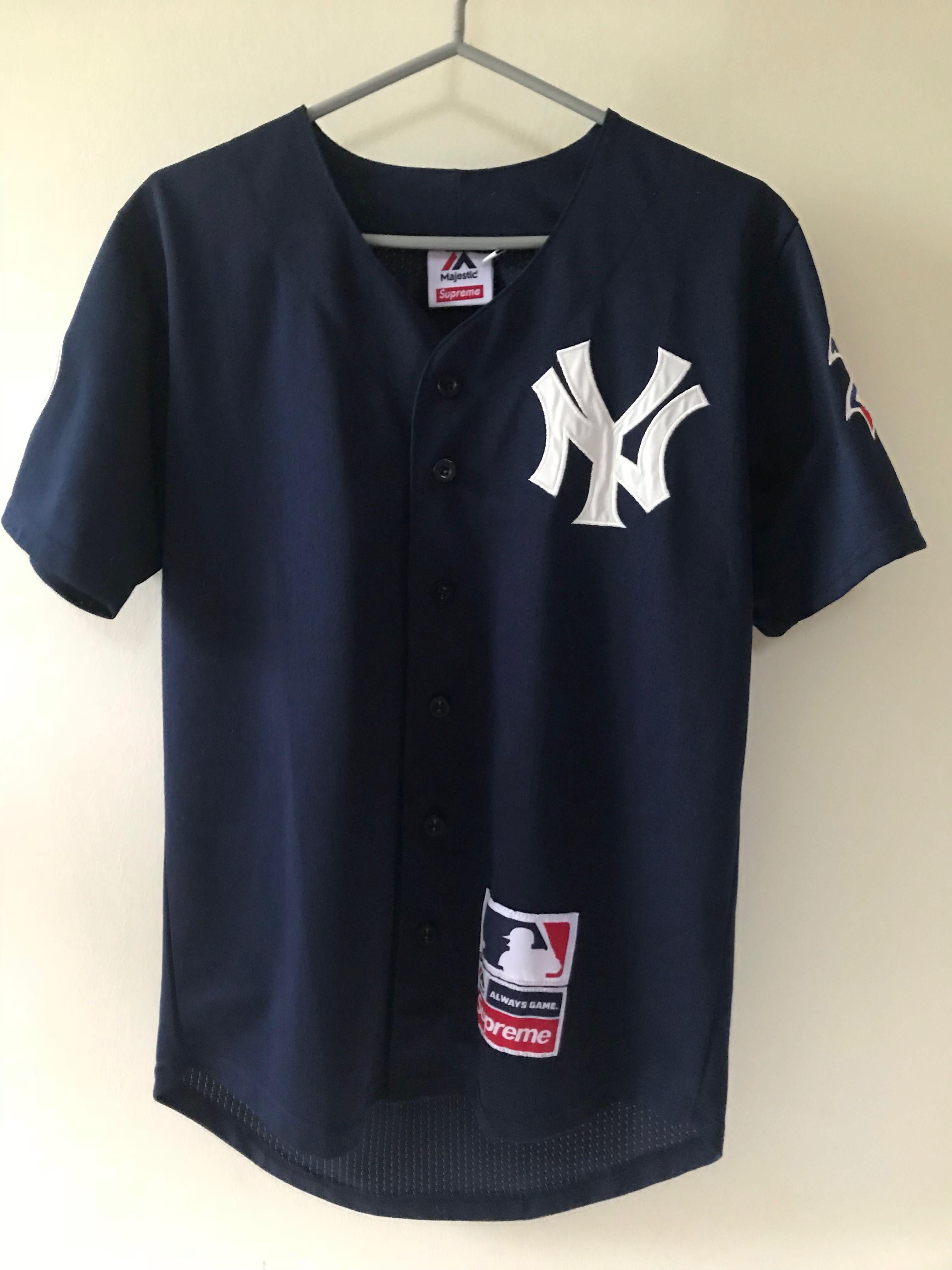 the best attitude 2eecd 5caba Majestic x Supreme NY Yankees Baseball Jersey