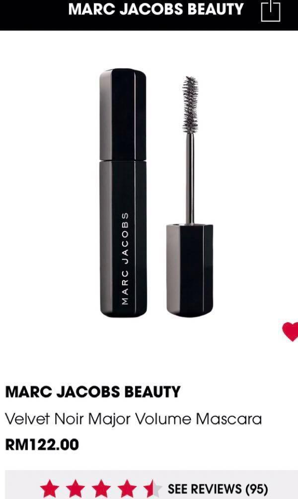 629925d4188 Marc Jacobs Velvet Noir major volume mascara mini 5g & Benefit They're Real  Mascara 3g , Health & Beauty, Makeup on Carousell