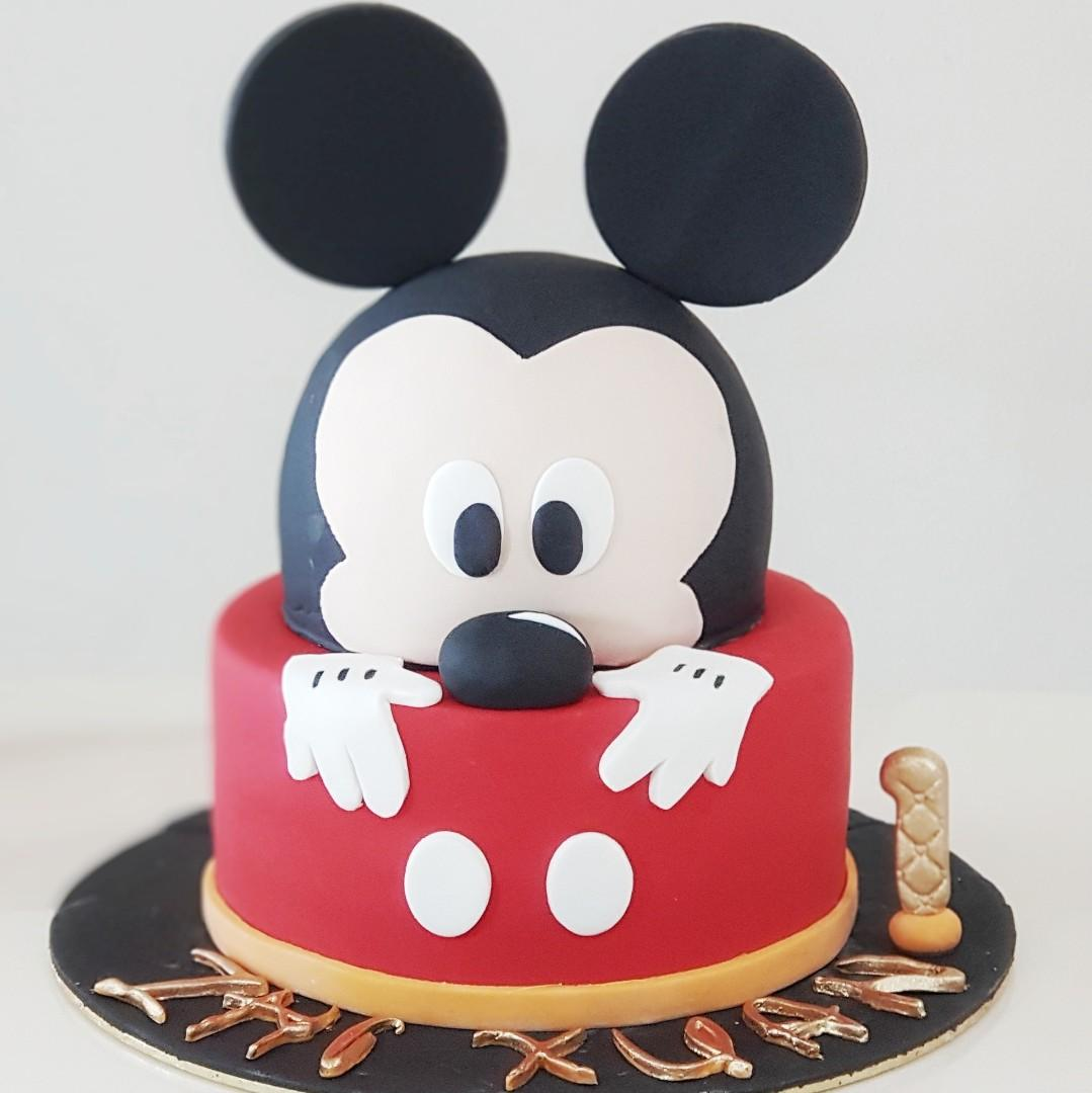 Awe Inspiring Mickey Mouse Birthday Cake Food Drinks Baked Goods On Carousell Funny Birthday Cards Online Elaedamsfinfo