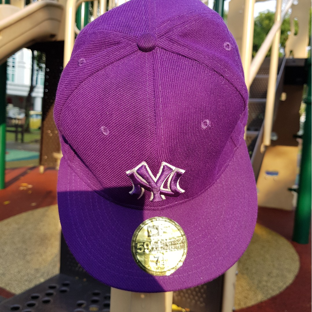 New Era 59Fifty Fitted Cap-Purple Color 237f6cefd0d