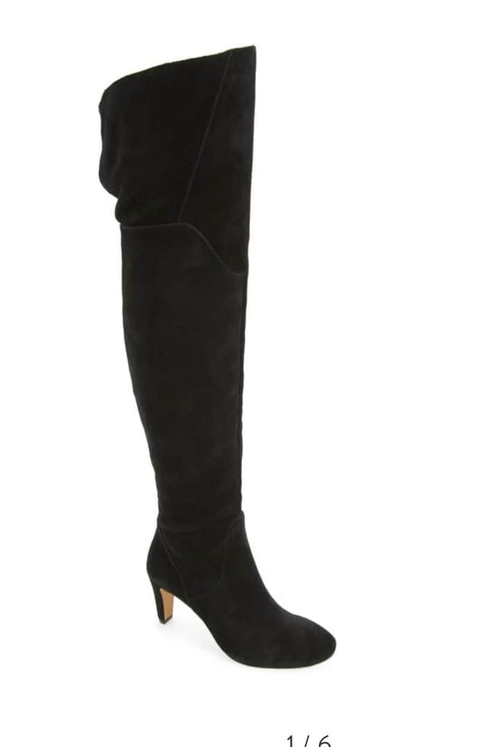 New vince camuto sz 7.5 suede over the knee