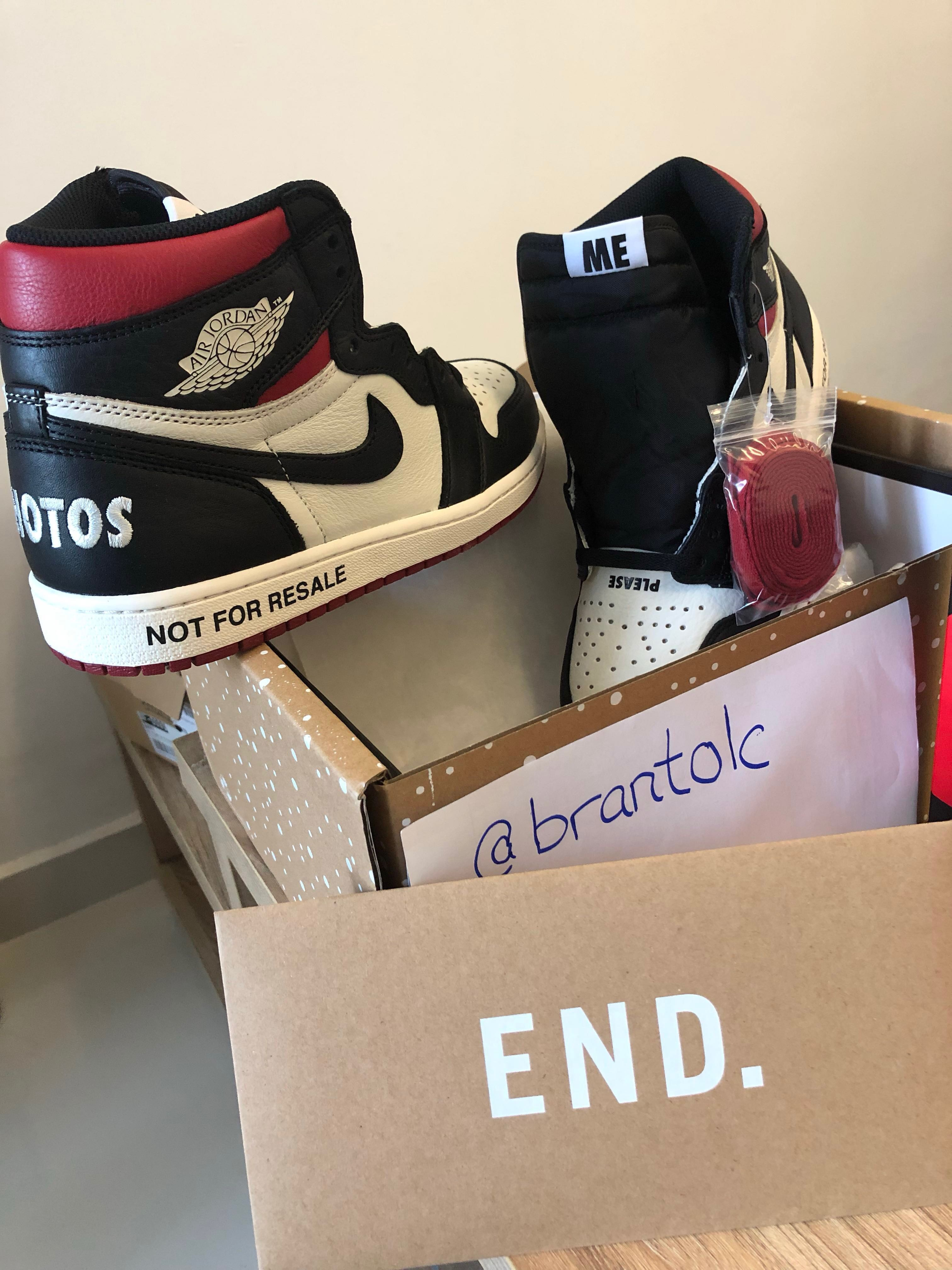 "a6292adc05f9e3 Nike Air Jordan 1 Retro High OG ""Not for resale"""