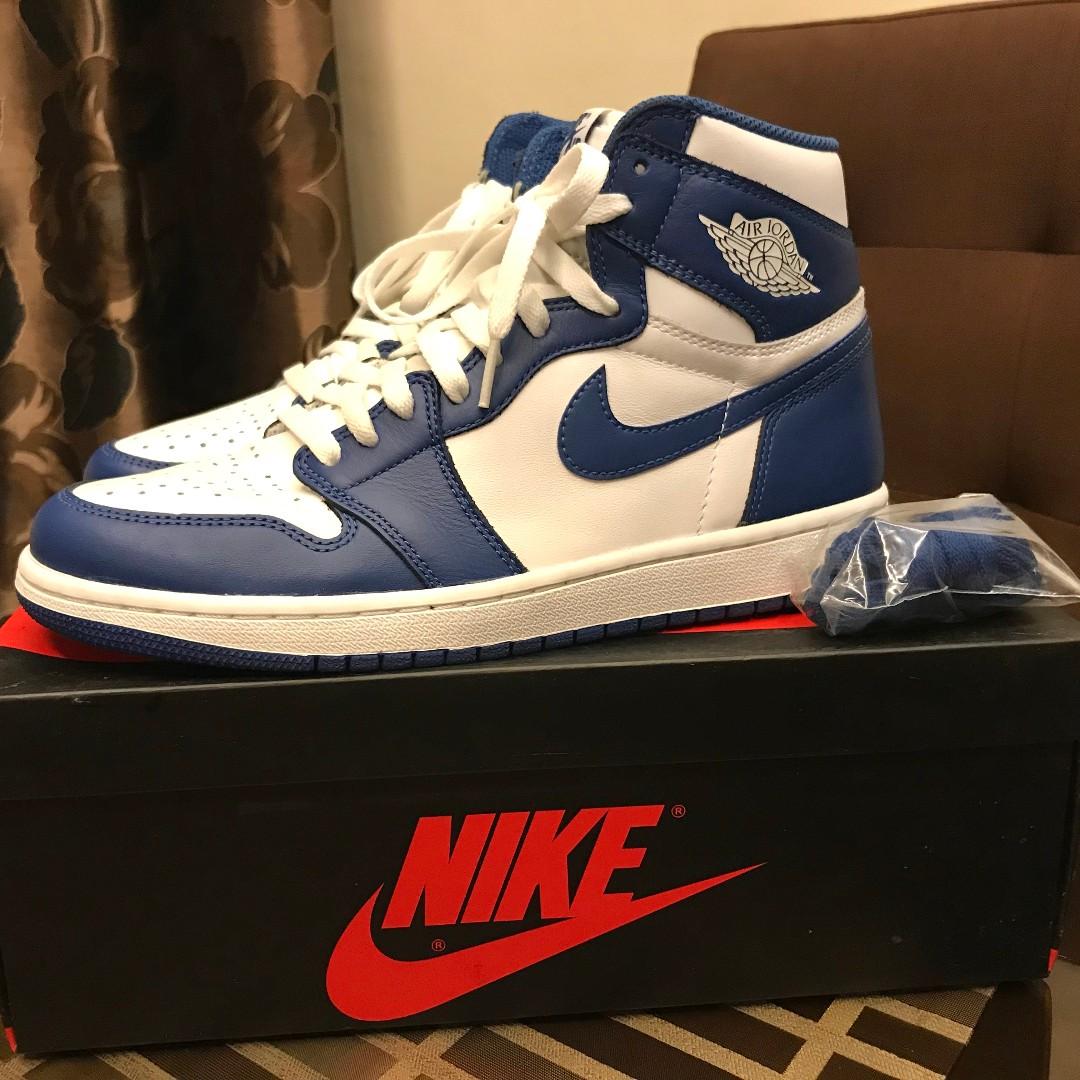 f322c5db3c89 Nike Air Jordan 1 Retro High OG White Storm Blue