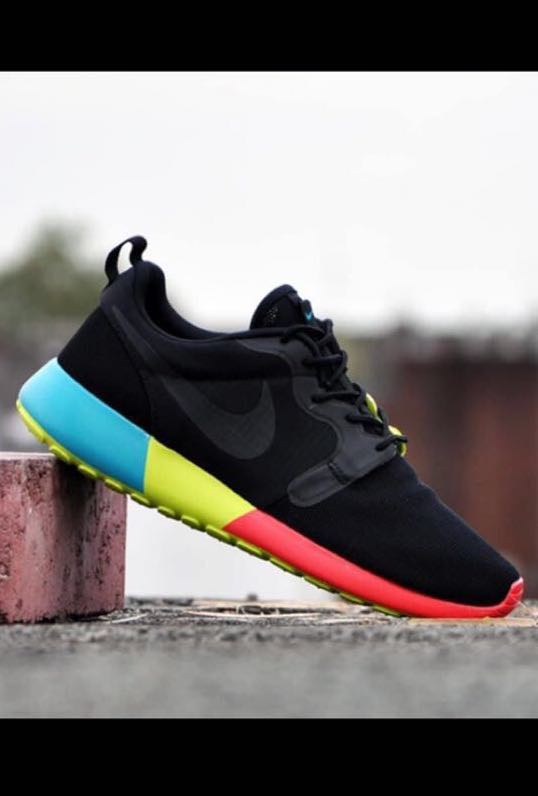 release date: 9893b 2502b Nike Roshe Run Hyperfuse Black Venom Green, Men s Fashion, Footwear ...
