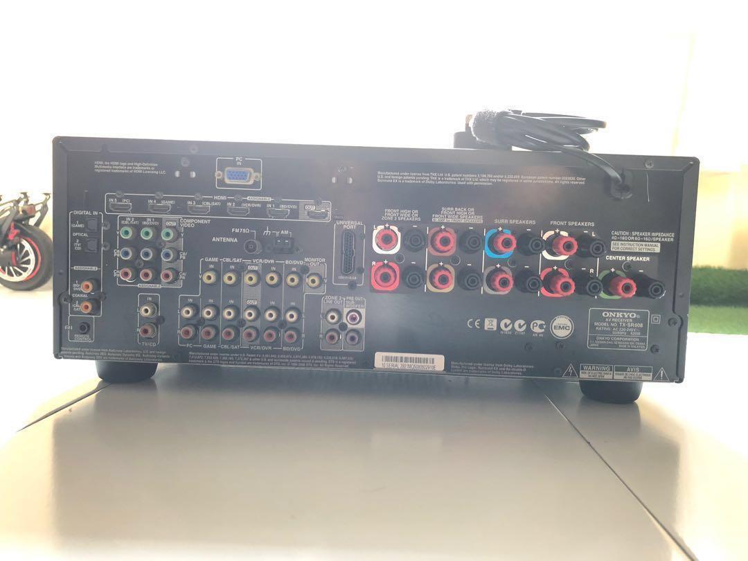 ONKYO TX-SR608 7 2channel AV Receiver Amplifier (Faulty HDMI