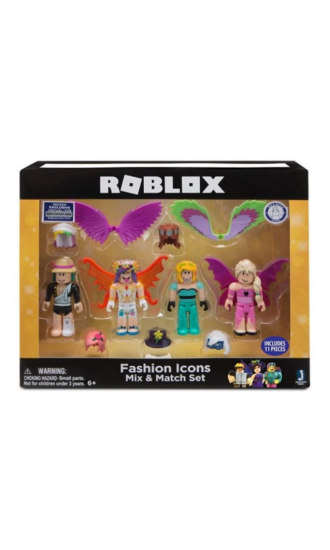 Instocks Roblox Figurines Po Roblox Celebrity Mix And Match Figure 4 Pack Fashion Icons Toys Games Bricks Figurines On Carousell