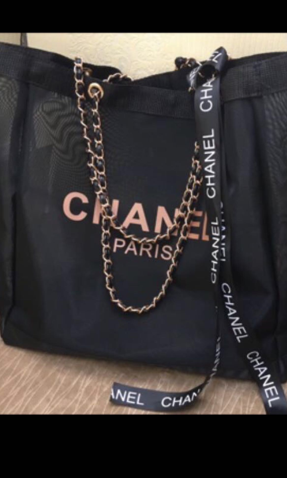 331b25dd97bf Pre CNY sale! Limited Edition Rose gold Chanel Makeup Tote Bag ...