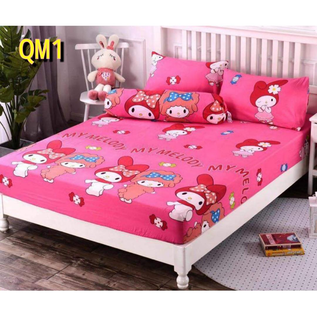Ready Stock My Melody 4 in 1 Bedsheet