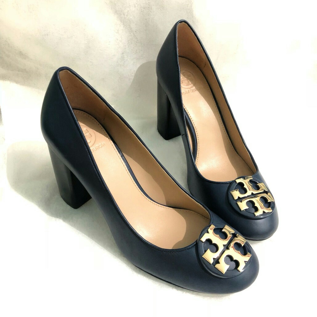 15b8aa137ea Ready Tory Burch Janey Pump 85mm in Navy Size 6 7
