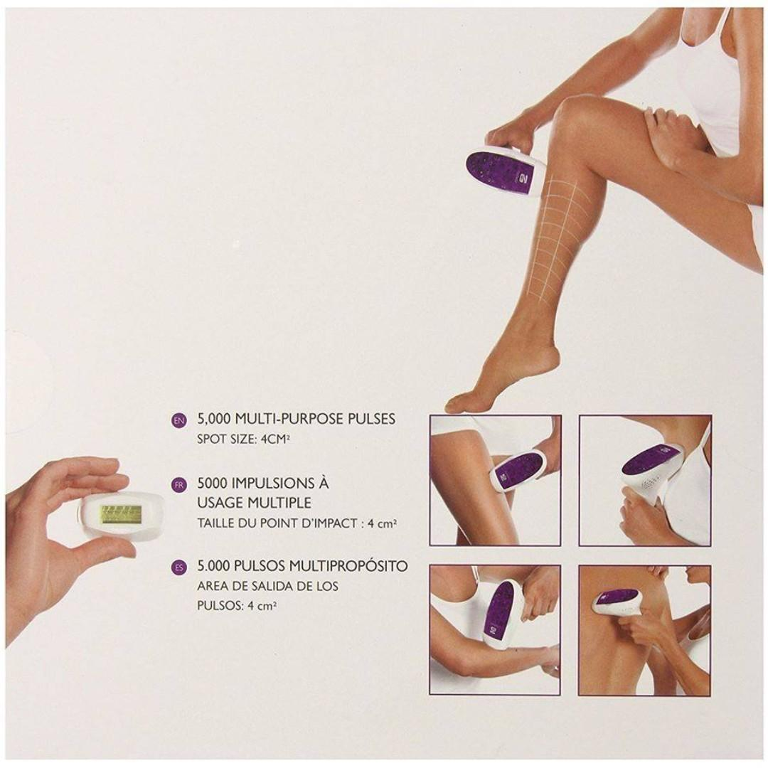 Silk'n Flash And Go All-Over Hair Removal Handheld Device, 5000 Flash Model