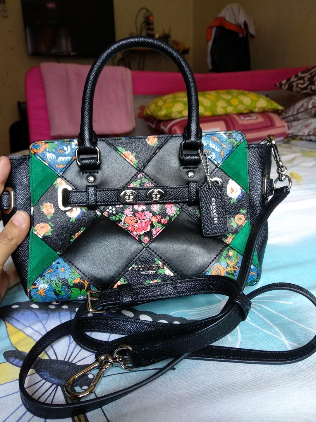 Tas coach blake patchwork original preloved