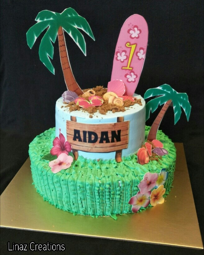 Tropical Theme Birthday Cake Need A CUSTOMISED CAKES Contact Us At