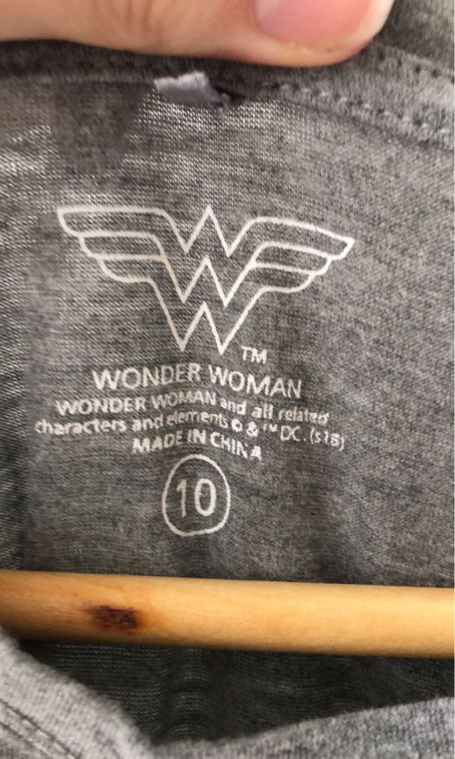Wonder Woman shirt size 10 DC