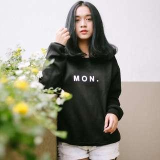Monday Sweater Black #bersihbersih
