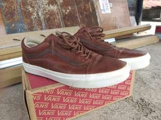 Vans ols skool brown leather
