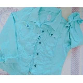 SALE!! Turquoise Denim Jacket #MFEB20