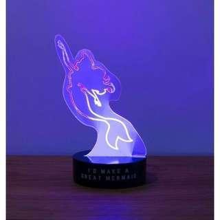 🚚 #新春八折 正版迪士尼 美人魚 The Little Mermaid LED夜燈