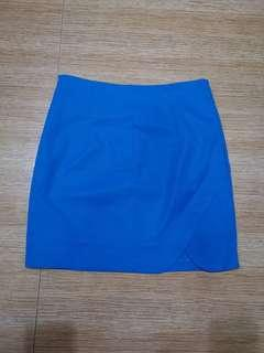 Blue A line pencil skirt