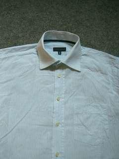TOMMY HILFIGER Pinstriped Shirt Long Sleeve Size L