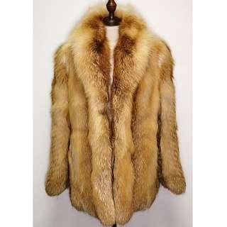 FOX FUR MINK Coat Jacket Brown Luxurious Gorgeous Party Dinner Clubbing Special Occasions Night Out Wedding Date 真 狐狸毛 皮草 女裝 大衣 外套 褸 派對 晚宴 晚裝 舞會 約會 高檔 豪華 華麗
