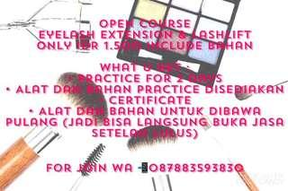 Open Course Eyelash Extension & Lashlift Tint