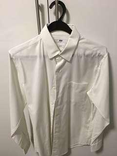 Uniqlo White dress shirt M slim fit