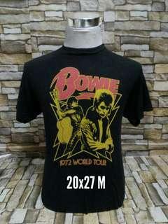 David Bowie tshirt band baju shirt
