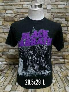 Black sabbath band tshirt baju