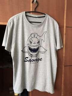 🚚 Navy 灰鯊魚棉T-shirt
