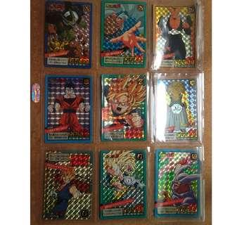 Dragonball loose power level prism cards x9