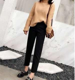 [PO avail] High Waisted Crop Pants