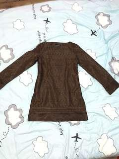 Dark Brown Lace Top
