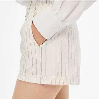 CNY SALE! BN Bershka Tailored Shorts With Metallic Ring