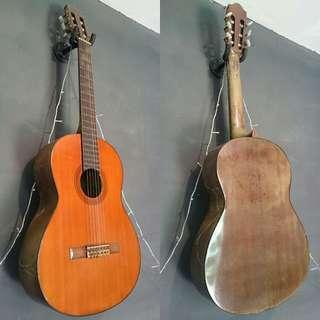 Yamaha CG130A original gitar klasik tua langka buatan Taiwan