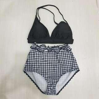 NEW High Waist Gingham Bikini Set