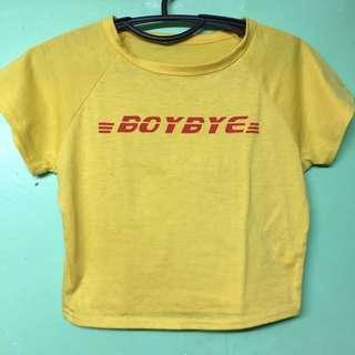 Boy bye yellow shirt